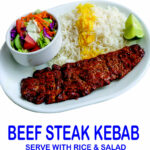 Beef Steak Kebab Burnaby BC Mr Greek Donair near Burnaby BC