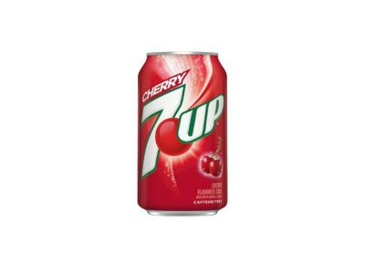 Cherry 7Up USA can from Burnaby Donair Mr Greek Donair near Burnaby BC