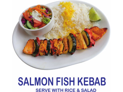 Salmon Fish Kebab Burnaby BC Mr Greek donair near Burnaby BC